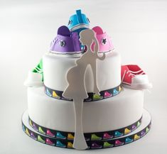 Cool baby shower converse cake
