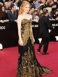 Brocado: Jessica Chastain (vestido de Alexandre McQueen)