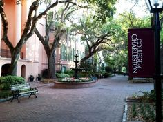 (The College of Charleston) We love how the Charleston penninsula is not only home to two historic colleges...