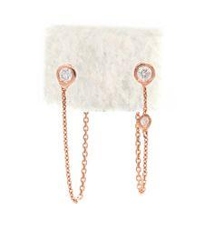 Chain Diamond Earrings - Audry Rose