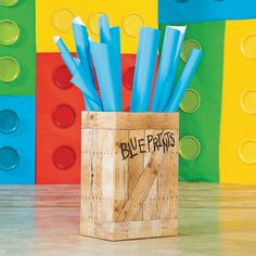 Every good architect needs some blueprints. This Vacation Bible School decorating idea adds a nice touch to the classroom and is a great DIY project that students will enjoy. Construction Theme Classroom, Construction Crafts, Construction Birthday Parties, Gadgets And Gizmos Vbs, 2017 Gadgets, Baby Gadgets, Travel Gadgets, Electronics Gadgets, Maker Fun Factory Vbs