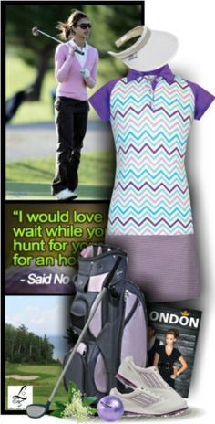 A chic golf look for women golfers! More of these at lorisgolfshoppe.polyvore.com #golf #fashion #ootd #lorisgolfshoppe