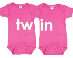 Funny Twin Onesies Twin Matching Outfit,Twins Onesie,Twin baby ...