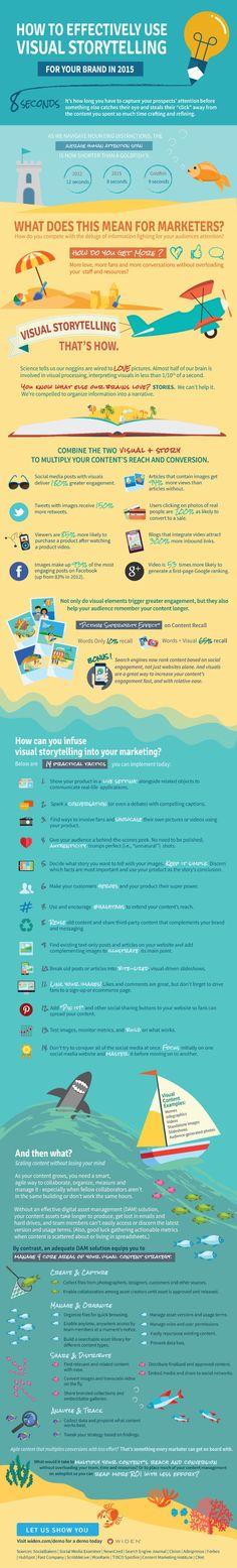 Visual storytelling para Marcas #infografia #infographic #marketing
