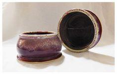 Red Pottery spaniel dog bowl set by rikablue on Etsy, $48.00