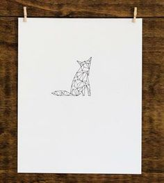 Geometric Fox - Original Drawing