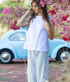 This casual pure linen top are an absolute summer wardrobe staple.Dress up or down for a relaxed summer look.Highly versatile and can be paired with pants or skirts.