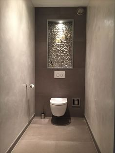 31 Beautiful Half Bathroom Ideas for Your Home - Bathroom Design - Badezimmer Small Toilet Room, Guest Toilet, Downstairs Toilet, Wc Design, Toilet Design, Design Ideas, Bathroom Design Luxury, Bathroom Design Small, Contemporary Bathrooms