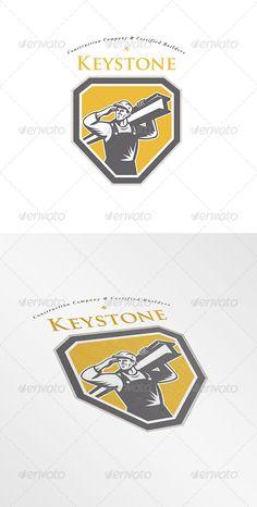 Keystone Construction Builders Company Logo — Vector EPS #logo #construction • Available here → https://graphicriver.net/item/keystone-construction-builders-company-logo/8202261?ref=pxcr