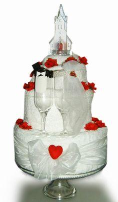 Towel Fakecake Wedding