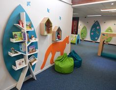 Visual displays in Woodland Themed Primary School Library
