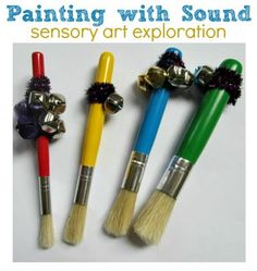 Sensorimotor Activity of the Week – Painting with Sound - Pinned by @PediaStaff – Please Visit  ht.ly/63sNt for all our pediatric therapy pins