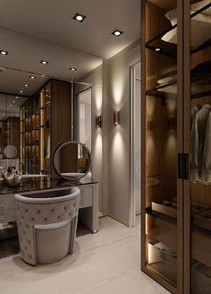 Feeling inspired to revamp your closet? We have a few splendid and imposing ideas! Walk In Closet Design, Bedroom Closet Design, Home Room Design, Modern Bedroom Design, Dream Home Design, Closet Designs, Home Interior Design, House Design, Luxury Rooms