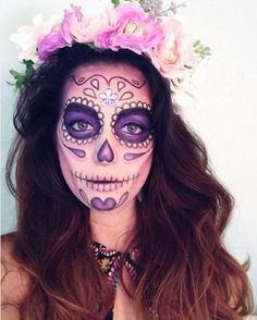 Dia de los Muertos Sugar Skull - The Most Hauntingly Gorgeous Halloween Makeup Looks on Instagram - Photos