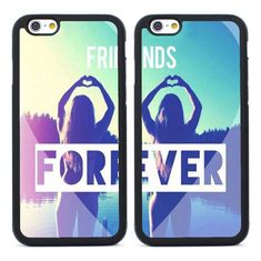 2pcs Best Friends Forever Silicone Cases for iPhone 4 5S SE 5C 6 6S Plus 7 Gift #UnbrandedGeneric