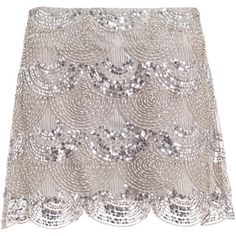 Goat skirts SILVER ($695) ❤ liked on Polyvore featuring skirts, mini skirts, bottoms, saias, embellished mini skirt, sequin skirt, sequin embellished mini skirt, silver sequin skirt and silver skirt