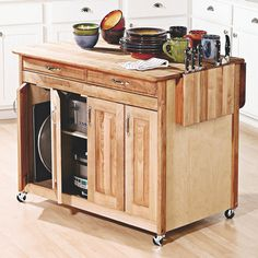 Kitchen Islands On Wheels Pictures Of Butcher Block Without