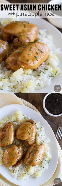 Sweet Asian Chicken with Pineapple Rice.