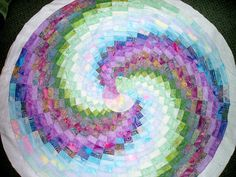 Really cool bargello quilt