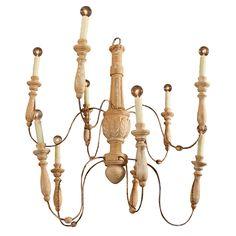 1stdibs   amazing wooden chandelier