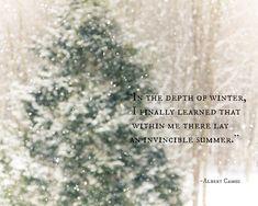 Depth of Winter, Snowstorm, Winter Snow, Dreamy Magical Winter Quote Woodlands Fir Trees Forest Snow Winter Photograph,  Fine Art Print