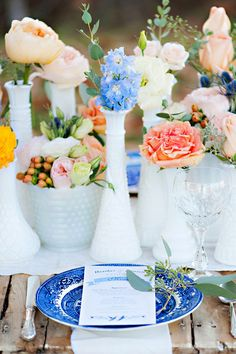 Cobalt blue wedding inspiration   Photo by Candace Berry Photography   Read more - http://www.100layercake.com/blog/?p=70340