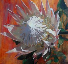 Artwork of Shaune Rogatschnig exhibited at Robertson Art Gallery. Original art of more than 60 top South African Artists - Since Protea Art, Protea Flower, South African Artists, King Art, Arte Popular, Abstract Flowers, Impressionism, Mosaic, Original Art