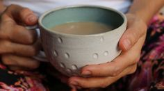 Sea Frost Cup - Hand Carved - Pottery - Mug - Cup - Coffee Cup - Tea Cup by Mudhavi on Etsy