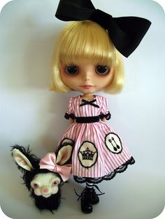I'z perty -------the two of us... by ♥..Sam..♥ #blythe #dolls #dollies #dollfashion #handmade