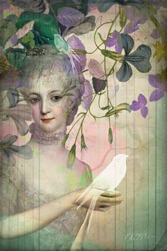 ⊰ Posing with Posies ⊱ paintings & illustrations of women & children with flowers - Catrin Welz Stein