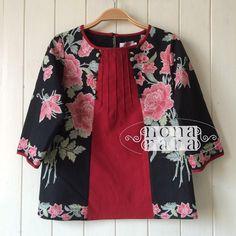 Batik Blazer, Blouse Batik, Batik Dress, Curvy Girl Outfits, Little Girl Outfits, Batik Kebaya, Batik Fashion, Kurti Neck Designs, Brokat