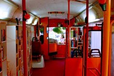 """New Public Library """"Otets Paisiy"""", Plovdiv, Bulgaria 2011 - studio 8 Mobile Library, Mobile Project, Bus Interior, Bus Shelters, Bulgarian, Wonders Of The World, Studio, Public, Books"""