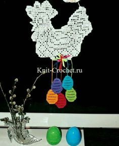 "Easter panel ""Chicken"" in the technique of loin crochet. Crochet Placemats, Crochet Doilies, Filet Crochet, Knit Crochet, Crochet Home Decor, Easter Crochet, Charts And Graphs, Knitting Patterns, Crochet Earrings"