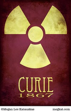 Marie Curie - Steampunk Rock Star Scientist Poster