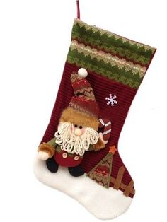 Piggy2gether  Happy Christmas Lovely Stockings Hanging Indoor Family Festival Ornaments Santa Clause -- This is an Amazon Affiliate link. Click image for more details.