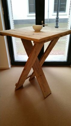 Steigerhouten statafels Picnic Chairs, Folding Tables, Passion Project, All Craft, Swings, Wood Crafts, Restoration, Garage, Dining Table