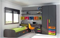 Colors themes and ideas. Kids Room Design, Bed Design, House Design, Bedroom Furniture, Furniture Design, Bedroom Decor, Teenage Room, Boy Room, Girls Bedroom