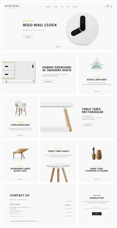 Minimal Mutil-Concept eCommerce PSD Template You are in the right place about Web Design process Here we offer you the most beautiful pictures about the Web Desig Layout Design, Web Layout, Page Design, Design Shop, Web Design Tips, Design Design, Flat Design, Minimal Web Design, Modern Design