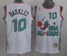 Mitchell And Ness Suns  10 Charles Barkley White 1996 All star Stitched NBA  Jersey Throwback 351c23d9c