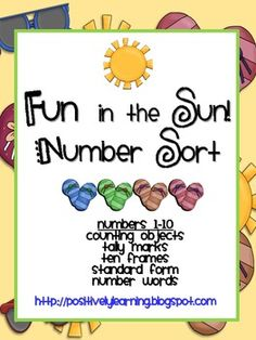 Here's an activity-packed file to practice sorting numbers 1-10 more than 5 ways! $3.00