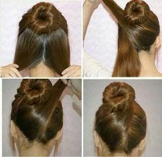 Imagem de hair, hairstyle, and diy
