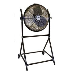 Floor Fans Air King 9219 Industrial Grade High Velocity Roll-about Stand for sale online Best Floor Fan, Floor Fans, High Velocity Fan, Desk Fan, Portable Table, Electric Fan, Thing 1, Industrial House, Heating And Cooling