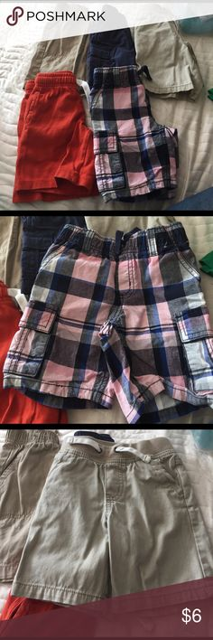 5 Pairs of Shorts Jumping bean, osh kosh, Cherokee, and two Gymboree all for $6! No tears rips holes or stains Bottoms Shorts