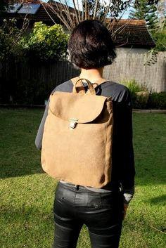 vegan backpack | camel daria|faux leather backpack|college backpack|laptop…