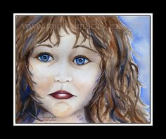 """Stop Abuse!"" ~ it should not hurt to be a child! please join the army of advocates fighting  to save children from emotional, physical & sexual abuse! original watercolor by michal madison"