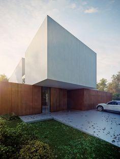 KMA (Kabarowski Misiura Architects) | Highly-Contrasted House | Wrocław, Poland | 2012 | http://www.k-m-a.pl