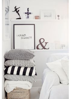#interior #design #home #decor #White #black #pillows #inspiration