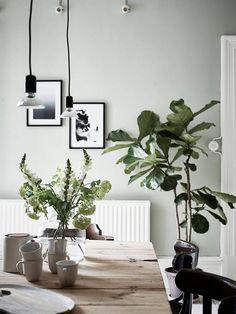 Botanisch industrieel interieur - groen - grijs - industriële woonkamer