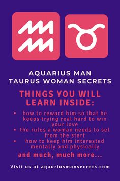 In my career as a relationship astrologer, I have consulted many clients with this special combination and have helped them find a way to align their stars and make it work after all. Today I'm finally ready to give you this brand-new and one of a kind special report about Aquarius man and Taurus woman. #zodiac #horoscope #love #relationship #compatibility #dating #aquarius #taurus #man #woman #match #dating_aquarius #dating_taurus #understand #seduce #attract #tips #guide #in_love #in_bed