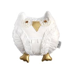 Nursery Decor Owl,baby room décor, baby shower gift, plush owl , throw pillow, baby girl, baby stuff, stuffed owl, white, gold, lace by OwlyYours on Etsy Owl Baby Rooms, Baby Owls, Baby Room Decor, Nursery Decor, Gold Lace, White Gold, Stuffed Owl, Little Owl, Baby Shower Gifts